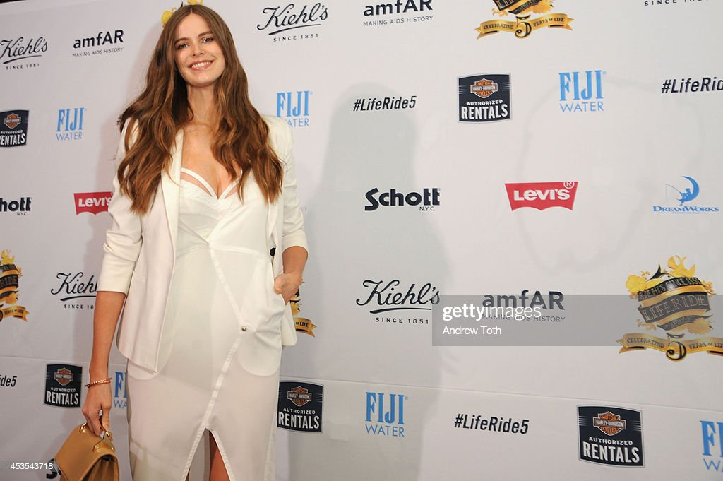 Australian model <a gi-track='captionPersonalityLinkClicked' href=/galleries/search?phrase=Robyn+Lawley&family=editorial&specificpeople=7733632 ng-click='$event.stopPropagation()'>Robyn Lawley</a> attends the 5th Annual Kiehl's LifeRide for amfAR Finale Celebration on August 12, 2014 in New York City.