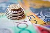 Stack of Australian dollars