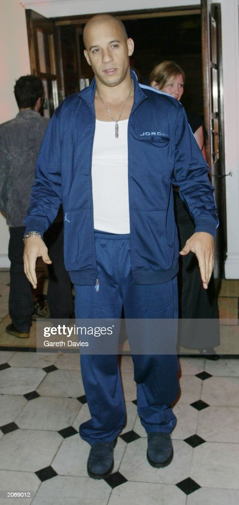 Australian movie star Vin Diesel attends the film premiere party for 'XXX' at the Royal United Services Institute for Defence Studies in Whitehall, London on October 14, 2002. The actor plays secret agent 'Xander Cage' in the high-octane, action-packed movie.