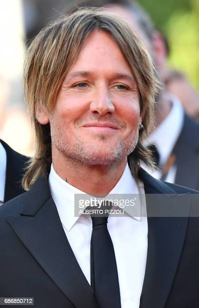 Australian musician Keith Urban arrives on May 22 2017 for the screening of the film 'The Killing of a Sacred Deer' at the 70th edition of the Cannes...