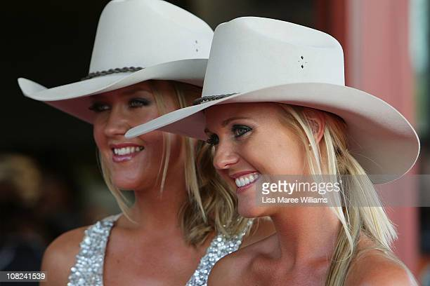 Australian musicians The Sunny Cowgirls arrive at the 39th CMAA Country Music Awards Of Australia at the Tamworth Regional Entertainment and...
