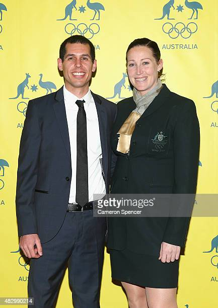Australian Olympian Jana Pittman poses during an Australian Olympic Fundraising Dinner at Star City on August 5 2015 in Sydney Australia