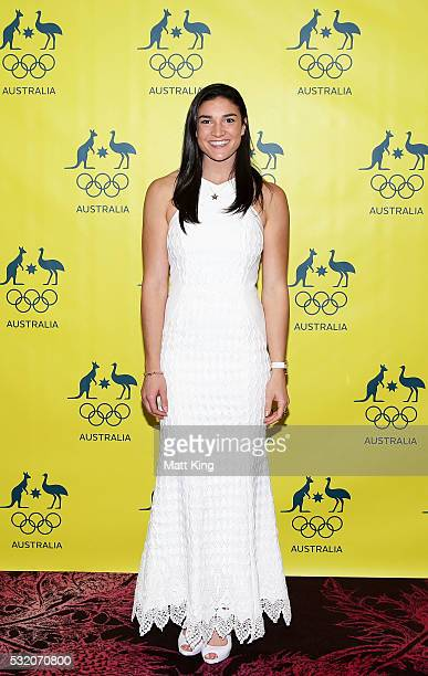 Australian Olympian Michelle Jenneke arrives ahead of the AOC Athlete Farewell Dinner at The Star on May 18 2016 in Sydney Australia