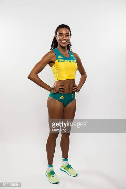 Australian Olympian Morgan Mitchell poses during the Australian Olympic Games Official Uniform Launch at the Park Hyatt Hotel on April 19 2016 in...