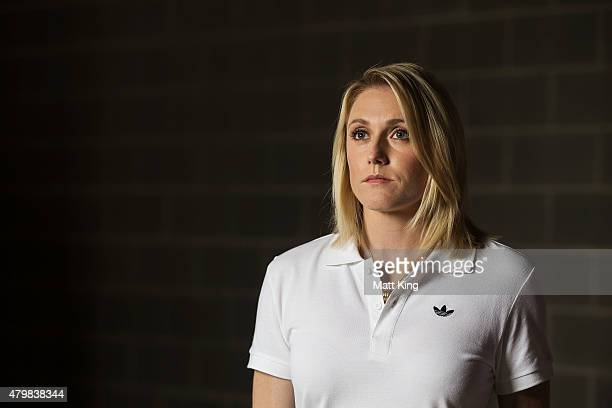 Australian Olympian Sally Pearson poses during a portrait session at Australian Technology Park on July 8 2015 in Sydney Australia