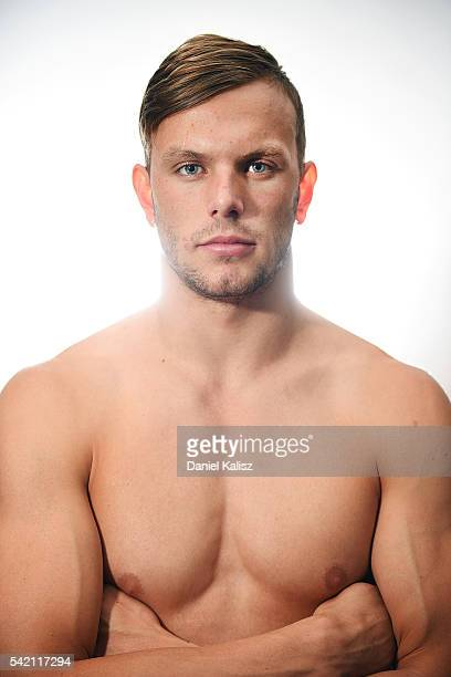 Australian Olympic swimmer Kyle Chalmers poses during a portrait session on June 15 2016 in Adelaide Australia