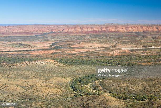 Australian outback landscape from Mt Sonder
