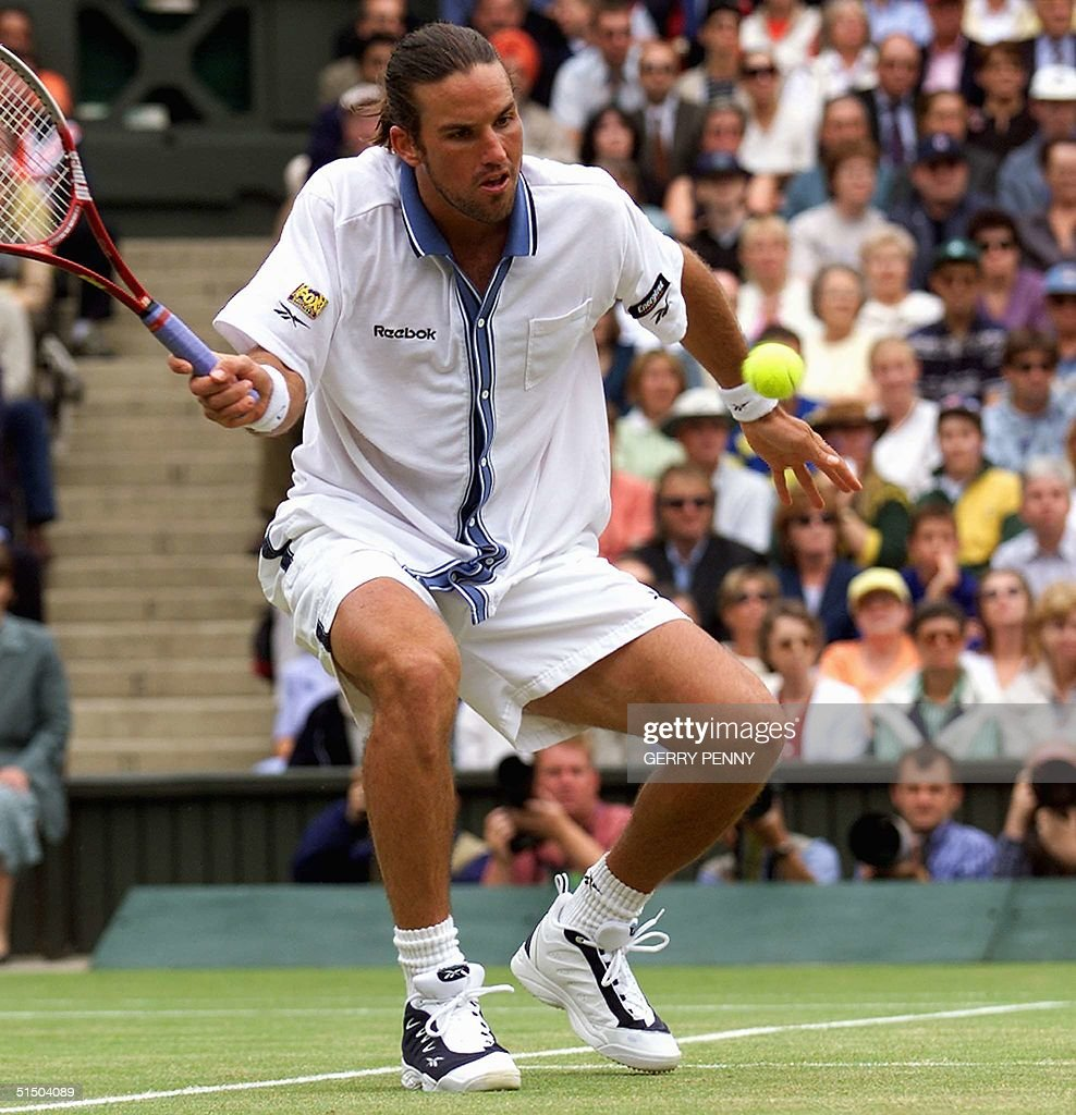 Australian Patrick Rafter returns a forehand volle