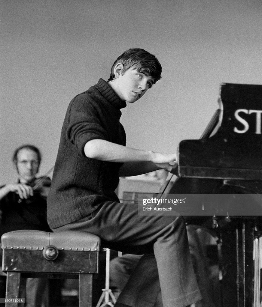 Australian pianist and composer Geoffrey Tozer at the age of fifteen, July 1970.