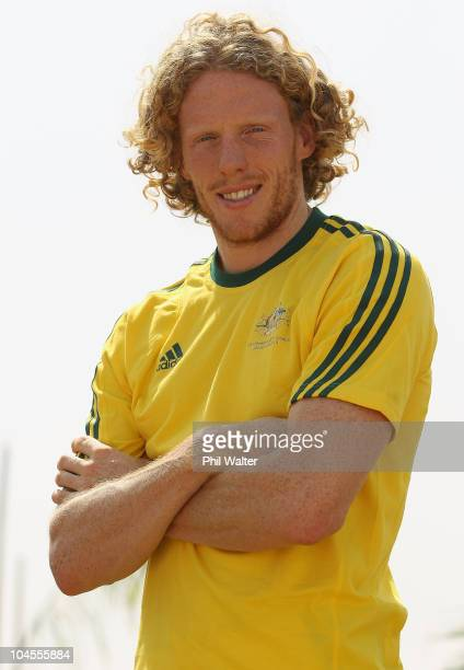 Australian pole vaulter Steve Hooker poses after a media press conference ahead of the Delhi 2010 Commonwealth Games on September 30 2010 in Delhi...