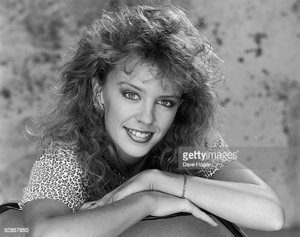Australian pop singer and star of 'Neighbours' Kylie Minogue circa 1990