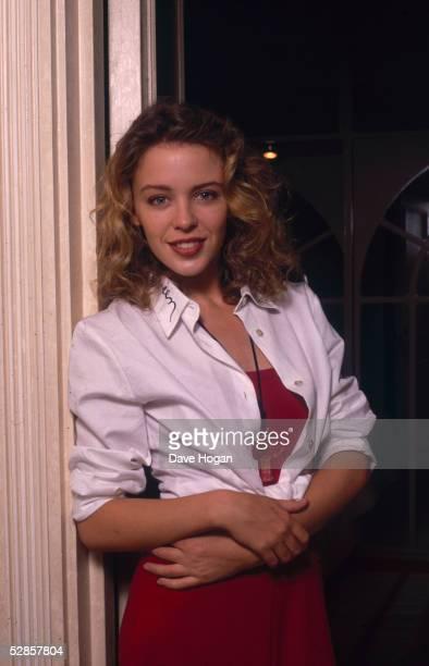 Australian pop singer Kylie Minogue circa 1990