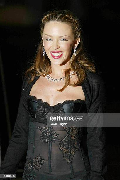 Australian pop star Kylie Minogue attends the Monte Carlo World Music Awards on March 6 2002 in Monte Carlo Monaco