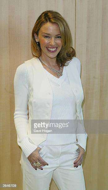 Australian pop star Kylie Minogue attends the World Music Awards held at the Monte Carlo Sporting Club on February 6 2002 in Monte Carlo Monaco