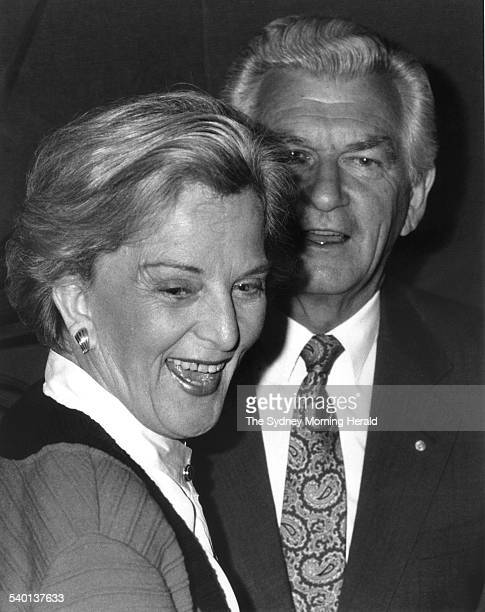 Australian Prime Minister Bob Hawke with his wife Hazel at the launch of a book aboput the official history of the NSW Branch of the Australian Labor...
