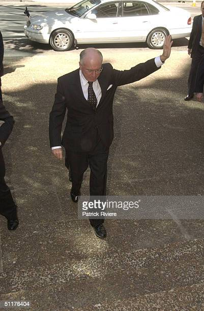 Australian Prime Minister John Howard at the state funeral for Australian country music legend Slim Dusty at St Andrew's Cathederal in Sydney