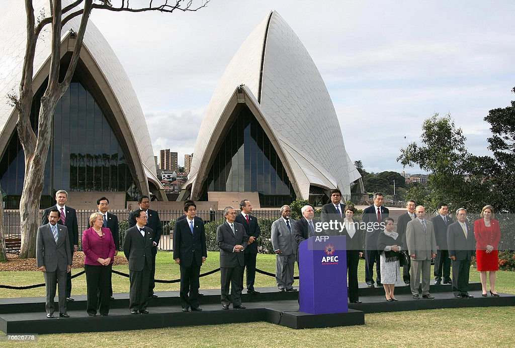 Australian Prime Minister John Howard delivers the final declaration at a ceremony on the final day of the AsianPacific Economic Cooperation summit...