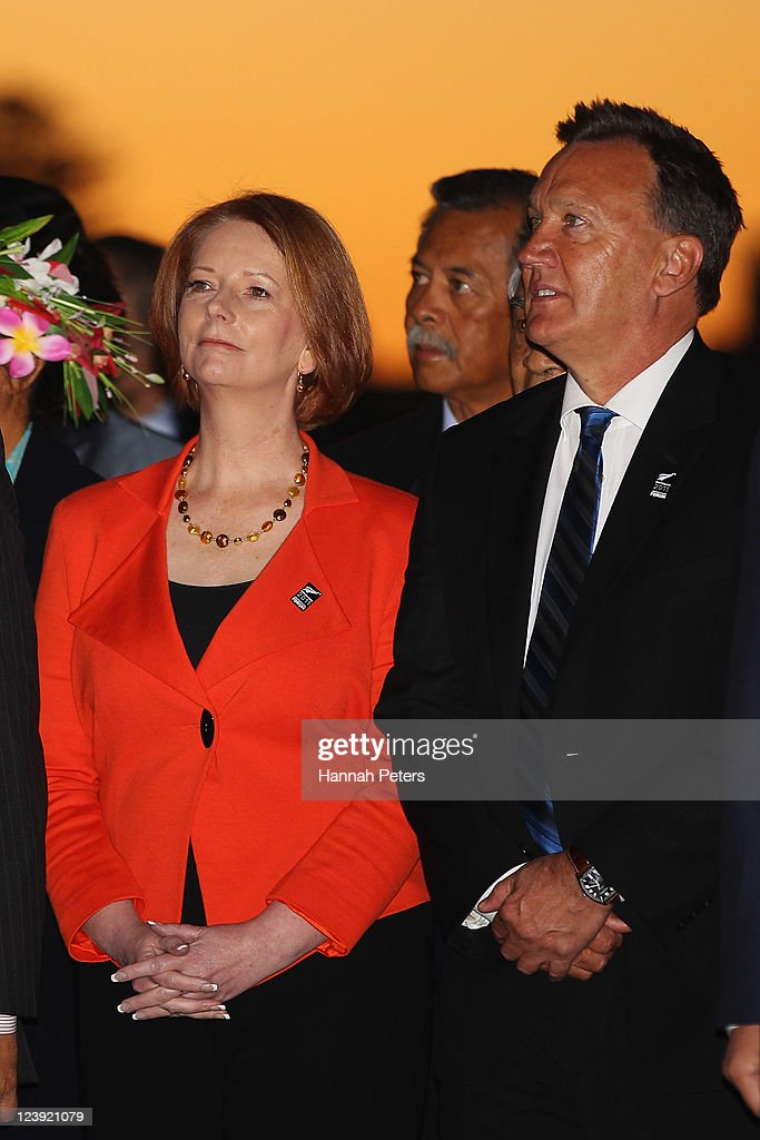 Australian Prime Minister <a gi-track='captionPersonalityLinkClicked' href=/galleries/search?phrase=Julia+Gillard&family=editorial&specificpeople=787281 ng-click='$event.stopPropagation()'>Julia Gillard</a> and her partner Tim Mathieson arrive at the War Museum on September 6, 2011 in Auckland, New Zealand. The annual gathering of leaders of the pacific nations has attracted heavyweight list of guests this year including United Nations Secretary General Ban Ki-moon, European Commission President Jose Manuel Barroso, the French Foreign Minister and the US Deputy Secretary of State. The forum conclusion coincides with the Opening Ceremony of the Rugby World Cup.