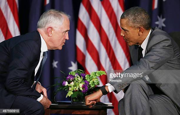 Australian Prime Minister Malcolm Turnbull and United States President Barack Obama meet at the 2015 AsiaPacific Economic Cooperation summit in...