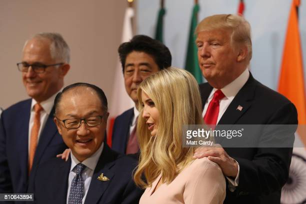 Australian Prime Minister Malcom Turnbull World Bank president Jim Yong Kim Japan's Prime Minister Shinzo Abe Ivanka Trump and US President Donald...