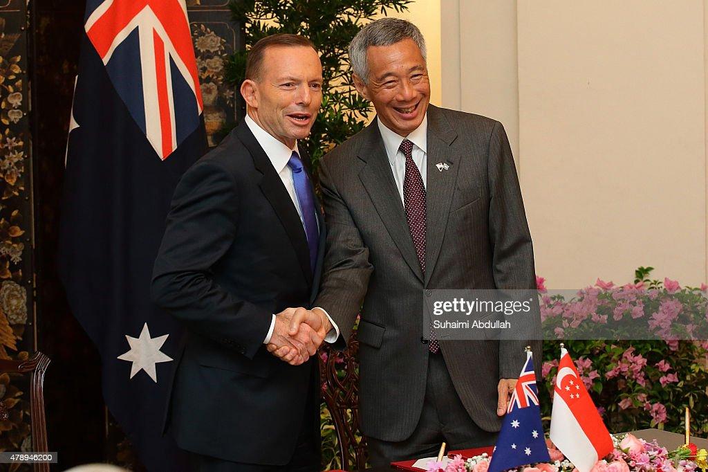 Australian Prime Minister Tony Abbott Visits Singapore