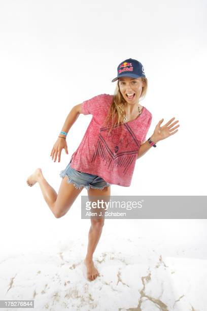 Australian pro surfer Sally Fitzgibbons is photographed for Los Angeles Times on July 26 2013 in Huntington Beach California PUBLISHED IMAGE CREDIT...