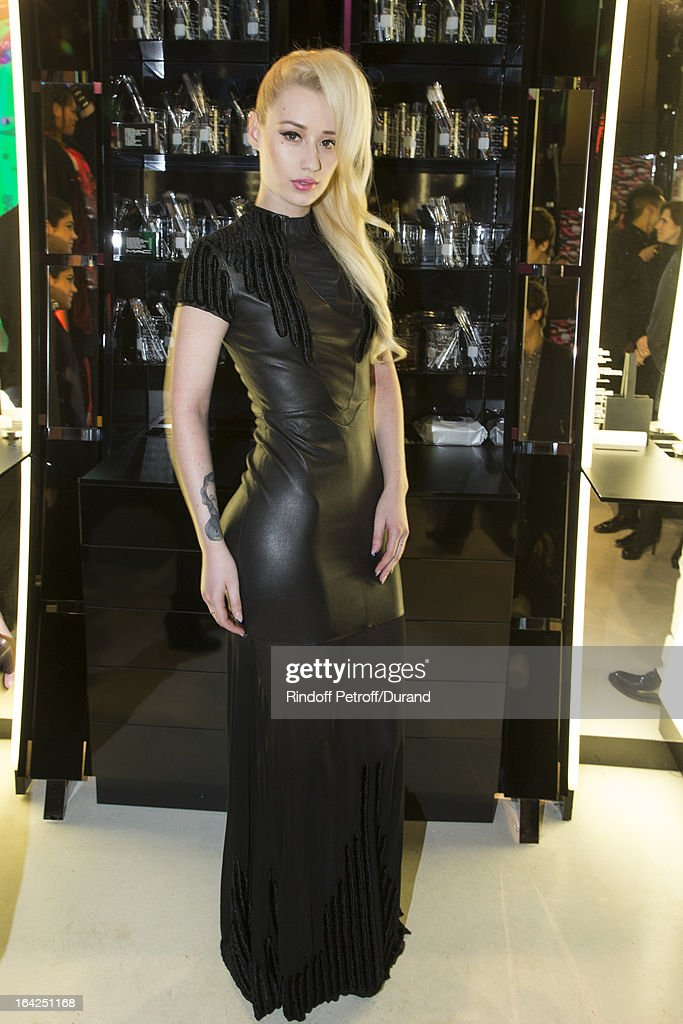 Australian rap singer <a gi-track='captionPersonalityLinkClicked' href=/galleries/search?phrase=Iggy+Azalea&family=editorial&specificpeople=8558263 ng-click='$event.stopPropagation()'>Iggy Azalea</a> attends the MAC Cosmetics Champs Elysees Opening Party on March 21, 2013 in Paris, France.