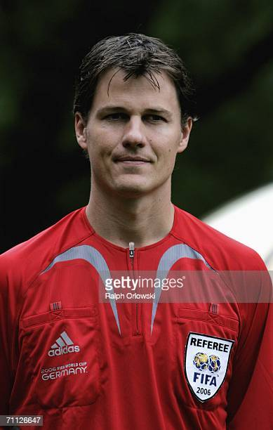 Australian referee Mark Shield is pictured during the FIFA Media Day at the Kempinski Gravenbruch Hotel on June 5 2006 in Frankfurt Germany