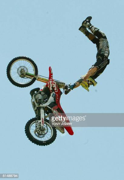 Australian Robbie Maddison defies gravity in the BMX Vert at the Gravity Games H20 17 October 2004The Gravity Games are being held outside of the US...