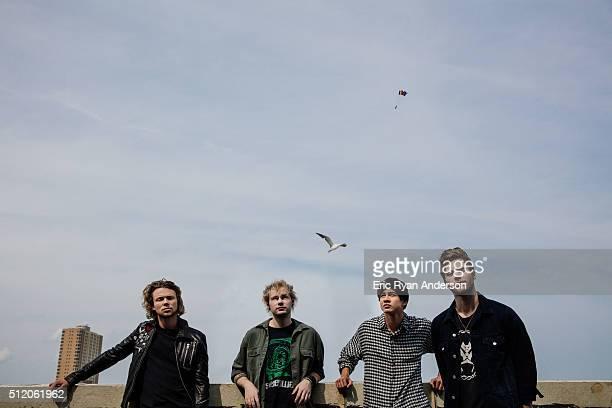 Australian rock band 5 Seconds of Summer Luke Hemmings Michael Clifford Calum Hood Ashton Irwin are photographed for Billboard Magazine on September...