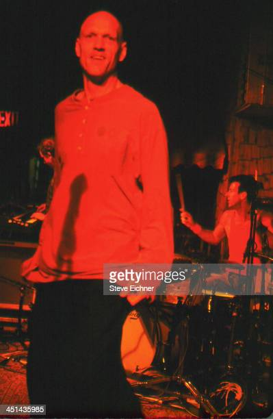 Australian rock band Midnight Oil performs on stage at the Wetlands Preserve nightclub March 27 1993
