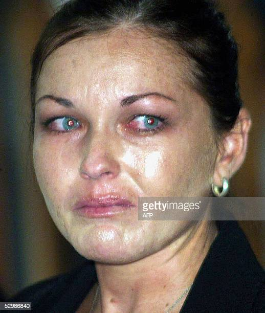 Australian Schapelle Corby cries as the judge reads her sentence during her drugs trial in Denpasar on the Indonesian resort island of Bali 27 May...