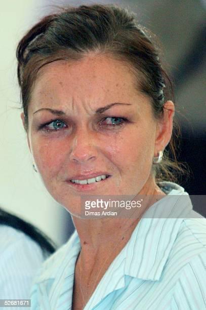 Australian Schapelle Corby cries while listening to Prosecutor Ida Bagus Wisnawantu announcing the prosecution sentence demands in a Denpasar...