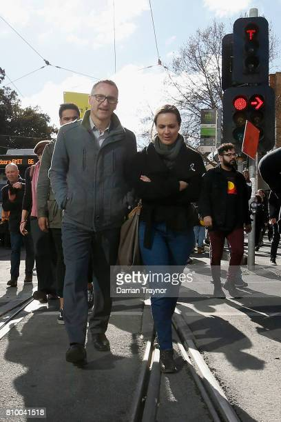 Australian Senator and leader of the Australian Greens Richard Di Natale is an at the 2017 NAIDOC March on July 7 2017 in Melbourne Australia The...