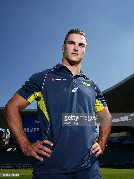 Australian Sevens players Ed Jenkins poses during the ARU Sevens World Series announcement at Allianz Stadium on March 9 2015 in Sydney Australia