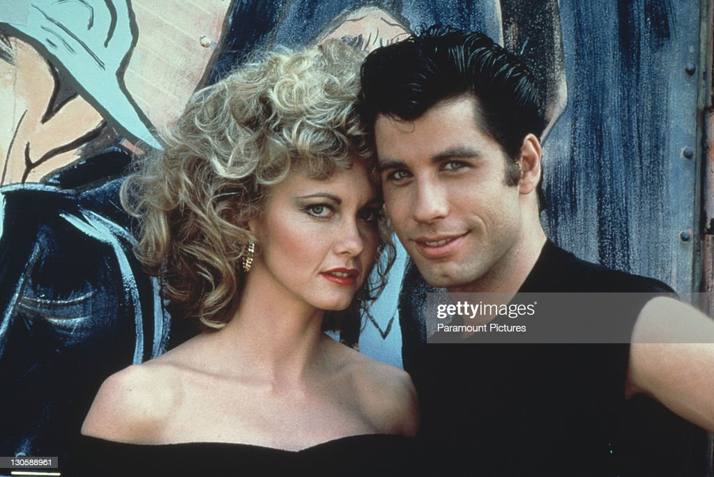 Australian singer and actress Olivia Newton-John and American actor <a gi-track='captionPersonalityLinkClicked' href=/galleries/search?phrase=John+Travolta&family=editorial&specificpeople=178204 ng-click='$event.stopPropagation()'>John Travolta</a> as they appear in the Paramount film 'Grease', 1978.