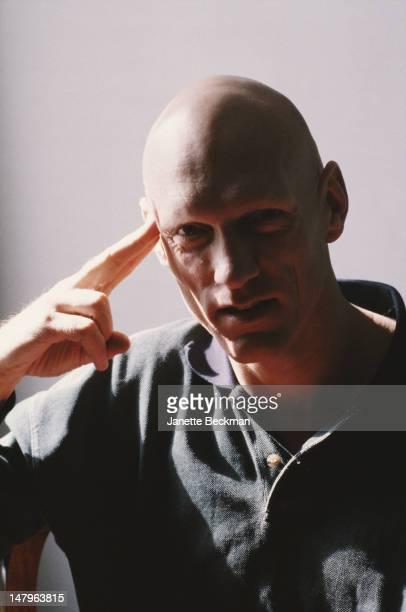Australian singer and musician Peter Garrett of rock band Midnight Oil New York City 1989