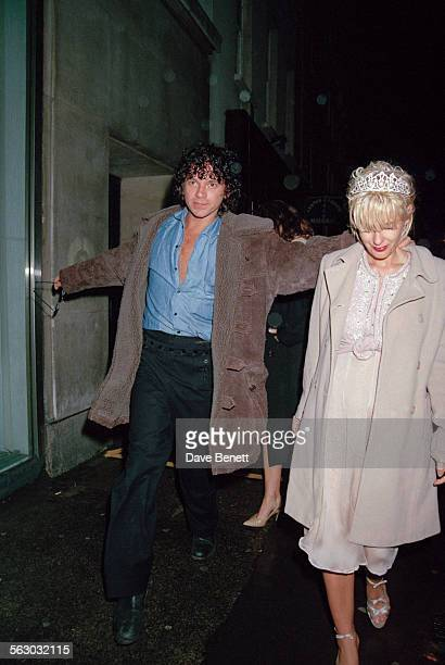 Australian singer and songwriter Michael Hutchence and British television presenter Paula Yates leaving L'Equipe Anglaise nightclub in Duke Street...