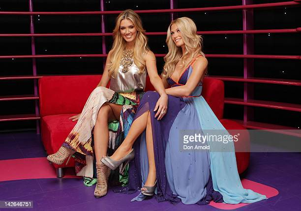 Australian Singer Delta Goodrem poses with her wax figure on April 11 2012 in Sydney Australia Madame Tussauds Sydney officially opens its doors to...