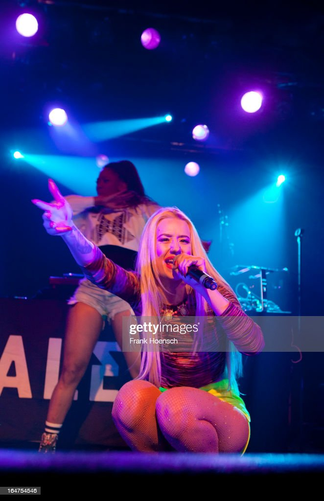 Australian singer <a gi-track='captionPersonalityLinkClicked' href=/galleries/search?phrase=Iggy+Azalea&family=editorial&specificpeople=8558263 ng-click='$event.stopPropagation()'>Iggy Azalea</a> performs live in support of NAS during a concert at the Astra on March 27, 2013 in Berlin, Germany.