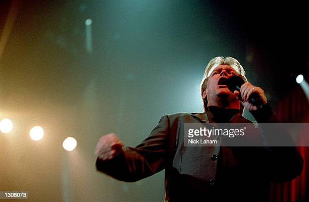 Australian singer John Farnham performs in concert November 30 2000 at the Sydney Entertainment Centre in Sydney Australia