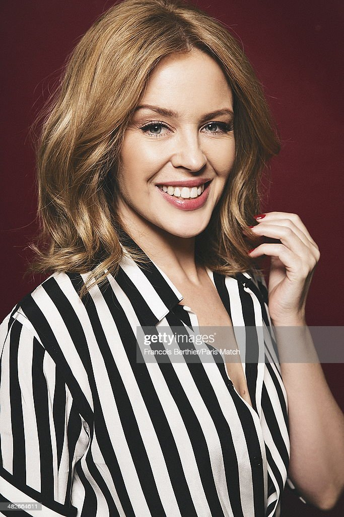 Australian singer <a gi-track='captionPersonalityLinkClicked' href=/galleries/search?phrase=Kylie+Minogue&family=editorial&specificpeople=201671 ng-click='$event.stopPropagation()'>Kylie Minogue</a> is photographed for Paris Match on March 20, 2014 in Paris, France.