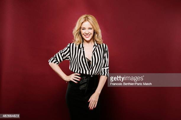 Australian singer Kylie Minogue is photographed for Paris Match on March 20 2014 in Paris France