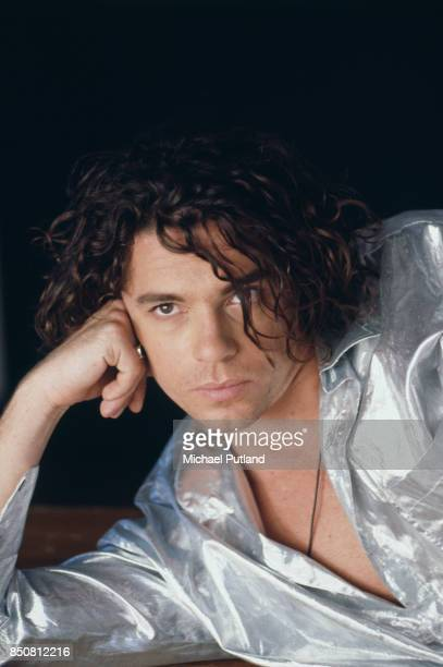 Australian singer Michael Hutchence of rock group INXS London September 1990