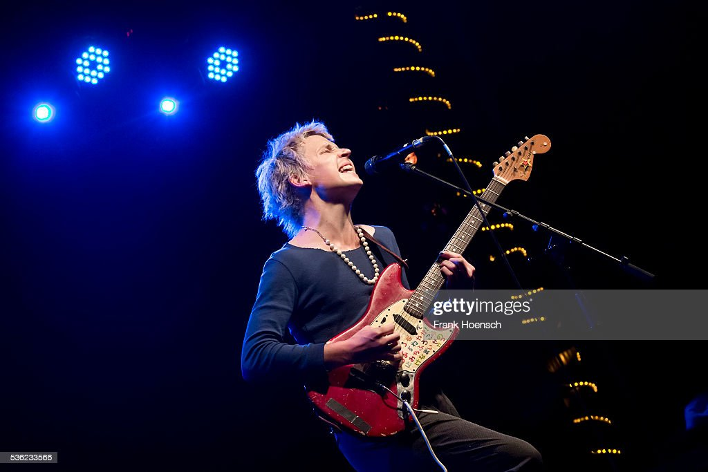 Singer Nicholas Allbrook performs live during a concert at the Postbahnhof on May 31, 2016 in Berlin, Germany.