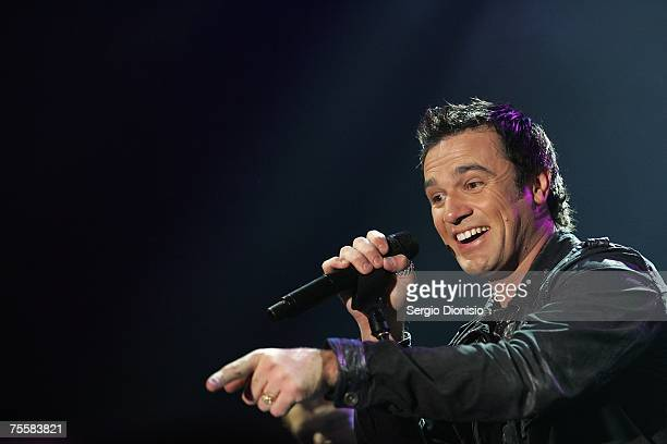 Australian singer Shannon Noll performs at the $1M Wild Turkey APL Tournament Of Champions event at Luna Park July 21 2007 in Sydney Australia