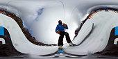 Australian ski cross athlete Anton Grimus takes to the slopes on July 11 2016 in Mount Buller Australia