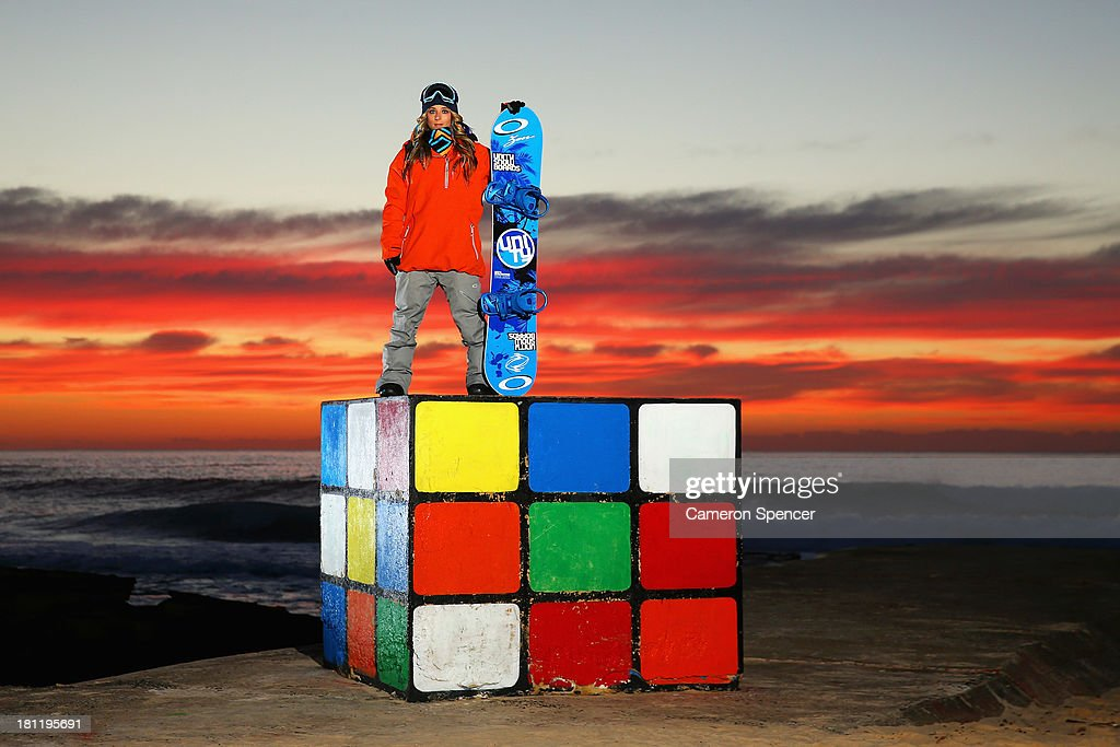 Australian snowboarder Steph Magiros poses during a portrait session on September 20, 2013 in Sydney, Australia. Magiros is aiming to qualify for the Australian Winter Olympic Team in snowboard half-pipe for the 2014 Sochi Winter Olympic Games.