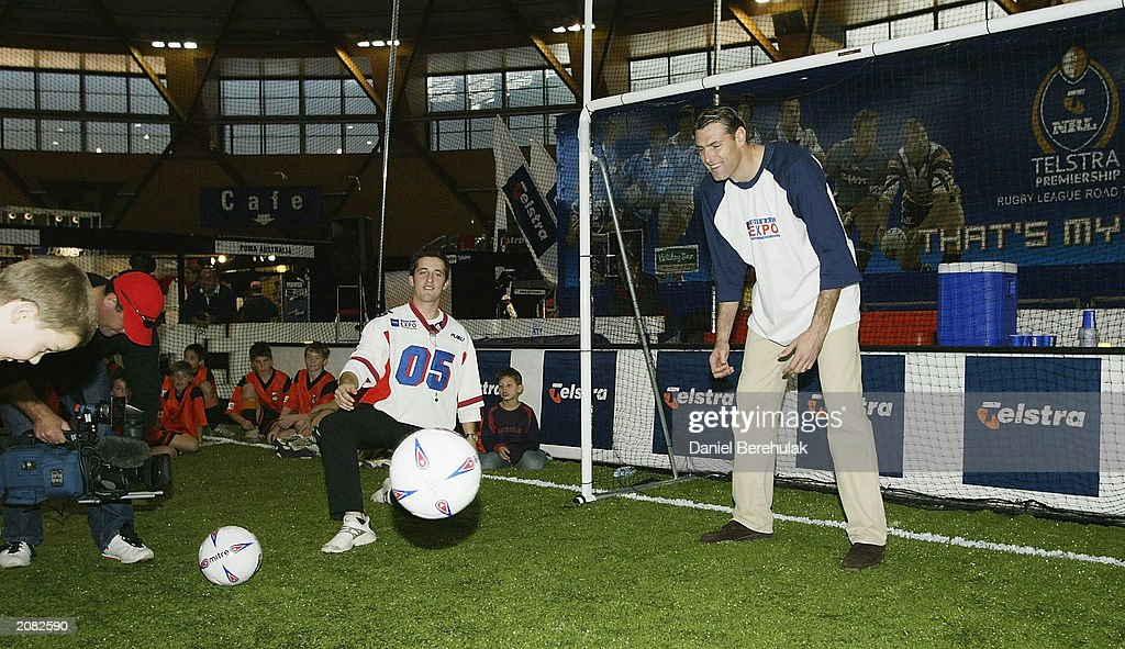 Australian Soccer Player Zelko Kalac Participates In A Kids Clinic During The Telstra Football Expo At