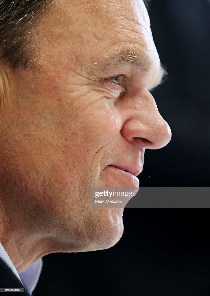 Australian Socceroos coach <a gi-track='captionPersonalityLinkClicked' href=/galleries/search?phrase=Holger+Osieck&family=editorial&specificpeople=579862 ng-click='$event.stopPropagation()'>Holger Osieck</a> speaks to the media during a FFA press conference at the FFA Offices on May 23, 2013 in Sydney, Australia.